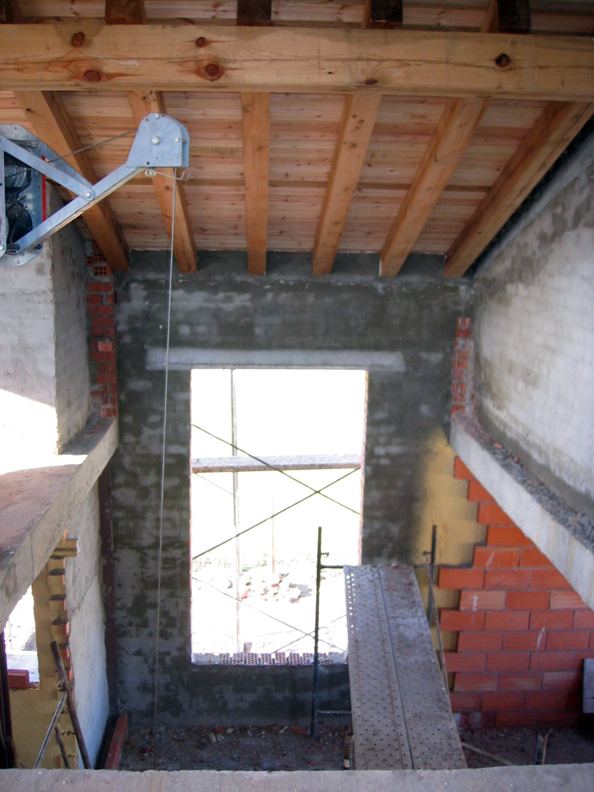techo estructura de madera