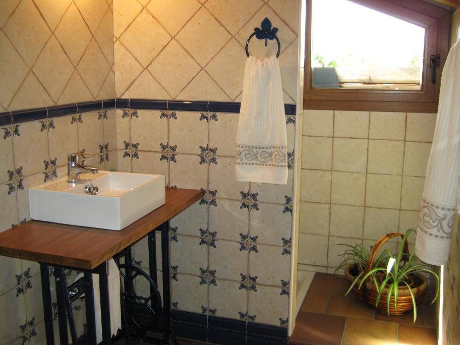 baño vivienda rustica